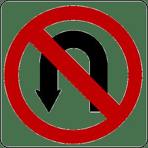 פניית פרסה אסורה